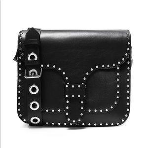 Rebecca Minkoff cross body leather studded bag.